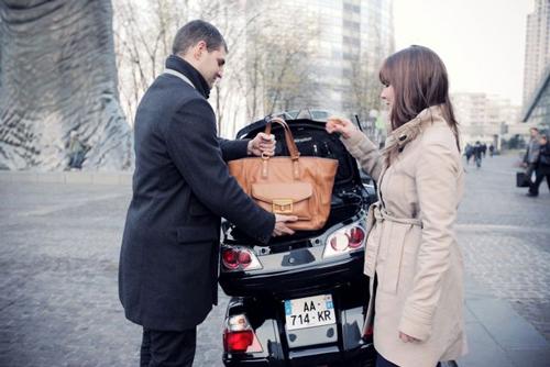 Vos bagages en taxi moto paris